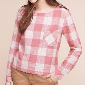 ⭐Anthropologie Checkered Top By Cloth & Stone⭐